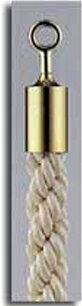 カラーロープBタイプΨ20mmフック:ゴールドロープ:ホワイト日本製国産送料無料手数料無料ガイドロープUフック用120cm取付簡単仕切り