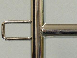 ハンガーラックプロS600イメージ2・美しいクロームメッキ仕上げ