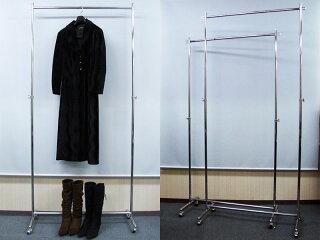 ハイハンガーラックプロS900イメージ1・スーツをたくさん掛けてもぐらつかない