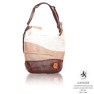 【Lahellaラヘラ】コルミオロングショルダーバッグレディースバッグキャンバスレザー付属ショルダーシンプル