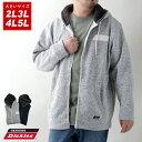全品送料無料 GENUINE Dickies ジェニュインディッキーズ パーカー 大きいサイズ メンズ 冬 裏起毛 ニットフリース フルジップ ジップアップ ストリート アメカジ カジュアル おしゃれ オシャレ 大人 ゆったり 大きい 大きめ メンズファッション 白 2L 3L 4L 5L