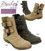 【 Blowfish ブローフィッシュ ブーツ 】 Augusta リネン風 キャンバス ベルト ストラップ ショートブーツ レディース シューズ