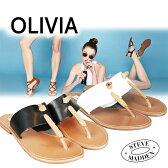 スティーブマデン steve madden OLIVIA 本革 レディース シューズ フラットサンダル Hot Stuff Sandal White ホワイト ブラック 夏 リゾート OLIVIA