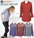 \税込、送料無料で7,000円ポッキリセール/SUNDRY サンドリー チェック シャツ ギンガムチェック Sundry Button Up Shirt 【正規品】 WVF1A-S14