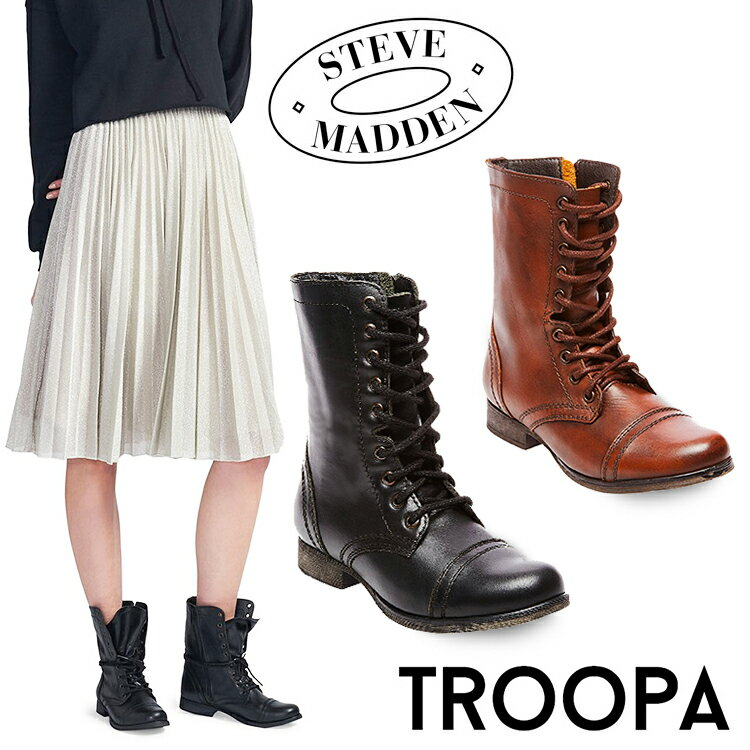 ブーツ, ワーク 10OFF! STEVE MADDEN TROOPA 3 Black Cognac Brown NY TROPA2