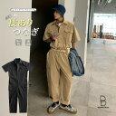 【今だけ返品無料】ゆったり ジャンプスーツ つなぎ ベルト付き バッグ付き 韓国 ファッション メンズ メンズ ストリート カジュアル メンズ 春 秋 夏 個性 大きいサイズ ビッグシルエット・・・