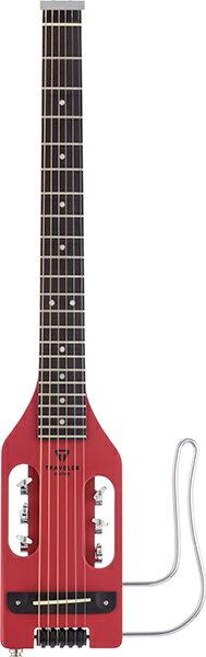 ギター, エレキギター Traveler Guitar Ultra-Light Acoustic Vintage Red