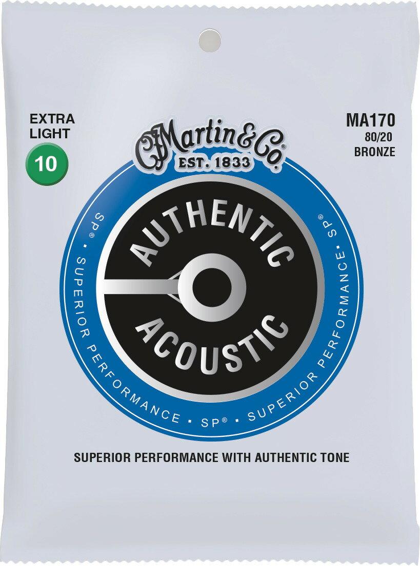 ギター用アクセサリー・パーツ, エレキギター弦 Martin MA170 AUTHENTIC ACOUSTIC SP 8020 BRONZE Extra Light