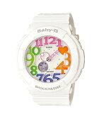 国内正規品 CASIO カシオ Baby-G ベビーG ネオンダイアル ホワイト レディース腕時計 BGA-131-7B3JF