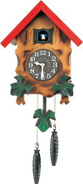 RHYTHMリズム時計クロック掛け時計鳩時計カッコークロックカッコーメルビルR4MJ775RH06(4MJ775-A06の新モデル)