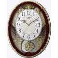 RHYTHMリズム時計クロック電波掛け時計メロディ付スモールワールドプラウド4MN523RH06