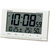 SEIKO セイコー クロック スタンダード デジタル 電波目覚まし時計 SQ789W