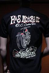"NEW!! 新商品!!半袖Tシャツ  ハーレー バイカー アメ車 HOTROD アメカジ ""H&S MOTORS INC"""
