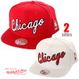 MITCHELL&NESS ミッチェル&ネス CHICAGO BULLS シカゴ・ブルズ SNAPBACK CAP スナップバック キャップ(2色)楽天カード分割
