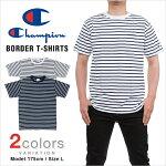 10%オフチャンピオンTシャツCHAMPIONT-SHIRTSボーダーポケット胸ポケットメンズ大きいサイズchampionレディース