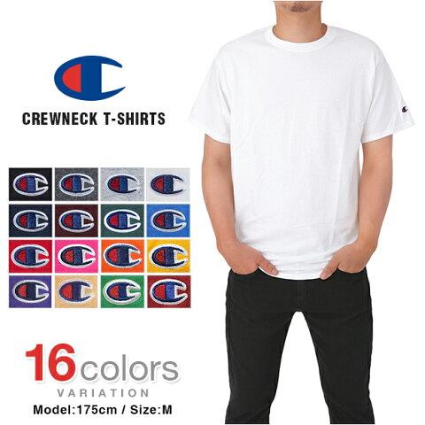 【2枚で100円引き 4枚で200円引きクーポン】チャンピオン Tシャツ CHAMPION T-SHIRTS メンズ 大きいサイズ USAモデル 無地 ワンポイント ロゴ 半袖 レディース