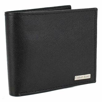 喀爾文 · 克萊恩 (CALVIN KLEIN) 2 折錢包硬幣硬幣錢包黑色 79393 BLK