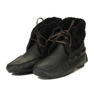 ボルジョーリ Borgioli ハンドメイドムートンブーツバッファローシューズ 9011840 NERO ブラック メンズ OLS-6 shoes-01 boots-01