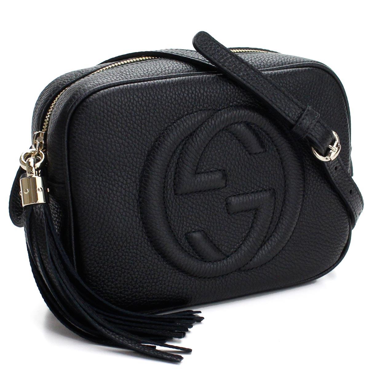 レディースバッグ, ショルダーバッグ・メッセンジャーバッグ  GUCCI SOHO 308364 A7M0G 1000 shoulder bag