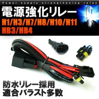 HID 전원 강화 릴레이 H1 H3 H7 H8 H9 H11 H13 HB3 HB4 전압강하 릴레이 안전 벨트
