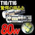 LEDバルブ80WT10/T16ウェッジ球CREE製アクアノアヴォクシープリウスセレナ【LED/フォグ/LEDバルブ/フォグランプ/フォグライト/HID/ライト】
