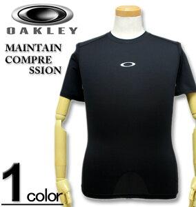 大きいサイズ メンズ OAKLEY (オークリー) トレーニング コンプレッション シャツ 半袖 MAINTAINS XL XXL 送料無料 コンビニ受取対応商品【セール品のため返品交換不可】