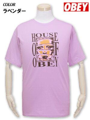 大きいサイズメンズOBEY(オベイ)Tシャツ半袖HOUSEOFOBEY/XLXXL【コンビニ受取対応商品】