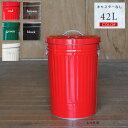 トタン バケツ ふた付きカラーバケツ 42L ダストボックス ごみ箱 ゴミ箱 日本製 大容量 アイボリー レッド グリーン ブラウン ブラック 42リットル 大型 金属製 ペットフード入れ ドッグフード入れ 国産 キャスター無し 送料無料