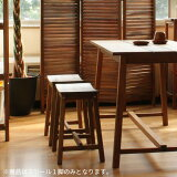 スツールS KOE-JAR 天然木 木製 マホガニー オイル仕上げ ブラウン 無垢材 北欧テイスト 送料無料