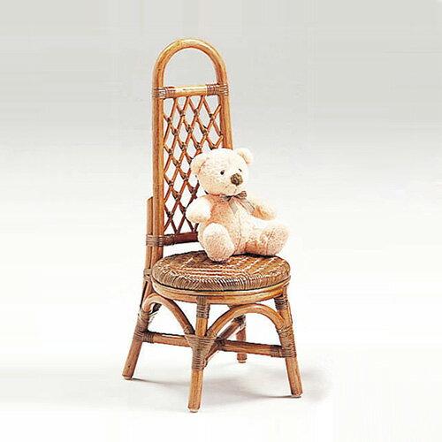 ラタン ミニローザンヌチェア〈AB〉 13-0130-00 カザマ アンティークブラウン 子供用 軽い 籐 椅子 キッズチェア 送料無料