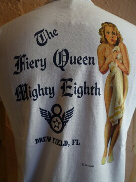 ★BUZZ RICKSON'Sバズリクソン★『THE FIERY QUEEN』S/S T-SHIRT BR77058半袖Tシャツ101WH