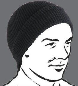 ★BUZZ RICKSON'Sバズリクソン WILLIAM GIBSON ウイリアム・ギブソンコレクション★『WILLIAM GIBSON COLLECTION TYPE BLACK A-4 Knit CAP』 ブラック ニットキャップ BR02272ニットキャップ ミリタリー01 BLACK