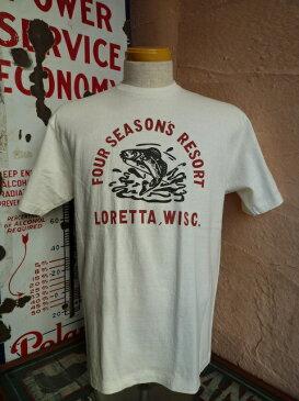 ★DUBBLEWORKS ダブルワークス★『FOUR SEASON'S RESORT LORETTA, WISC』プリントTシャツホワイト