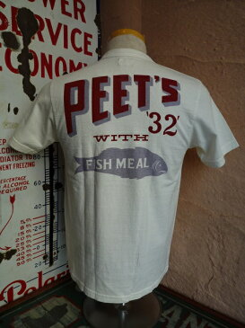 ★DUBBLEWORKS ダブルワークス★『PEET'S 32』プリントヘンリーTシャツホワイト