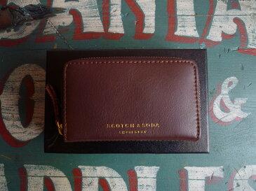★SCOTCH&SODAスコッチアンドソーダ★LEATHER COIN WALLET SC77143コインケースBROWN/NATURAL(C)