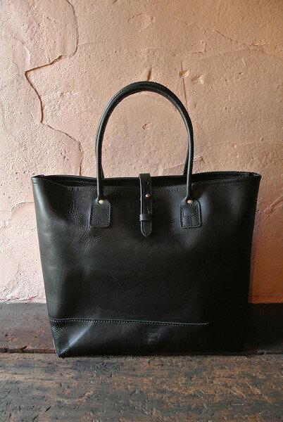 男女兼用バッグ, トートバッグ HERITAGE LEATHER CO.MADE IN USA Leather ToteBlack Moccasin Leather