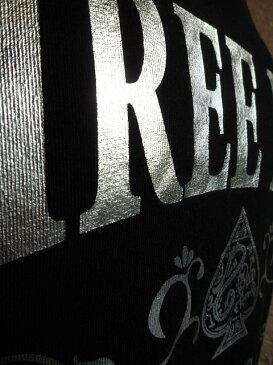 ★THREEDICE スリーダイス★TD11SP-TS003 スペードロゴシルバープリント半袖Tシャツブラック×シルバー
