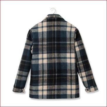 ★UESウエス★ウールジャケット 911351_05ハリス地方産ウール100%オリジナルチェックウールジャケットネイビー
