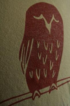 ★WILD THINGSワイルドシングス★★COOLMAX PRINT TEE SLOWLY OWL★クールマックスTシャツKHAKI