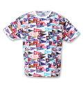 MLBフラッグ総柄プリント半袖Tシャツ