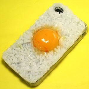 アイフォンをカスタマイズしよう!◆iPhone4 対応ランチカバーシリーズたまごかけご飯 ZKIC1685