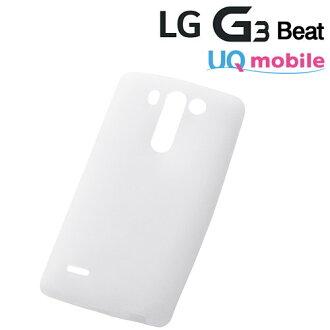 ☆◆ 花環·出界UQ mobile LG G3 Beat專用的矽情况/白(半透明)RT-LG3C1/W 10P03Dec16