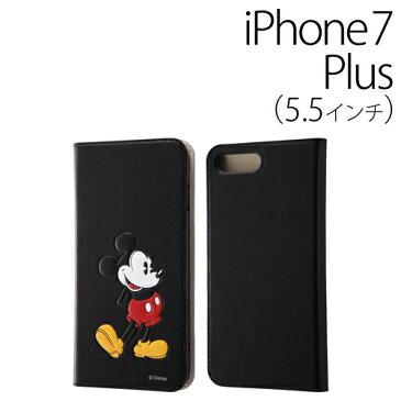 iPhone7 Plus ケース 手帳型 ディズニー☆◆ レイ・アウト ディズニー iPhone7 Plus (5.5インチ) 専用 手帳型ケース スタンディング ミッキー RT-DP13J/MK