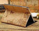 iPadAir用高級PUレザーケース「おしゃれな世界地図」