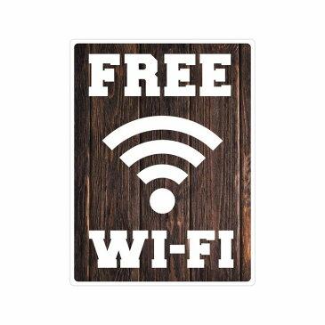 FREE Wi-Fi wifi ステッカー シール ワイファイ 防水シール 外国人観光客用 識別 標識 案内 9cm×12cm