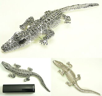 "Beauty hair crocodile brooch, Accessories/Accessories/alligator / alligator crocodile charm."""". """