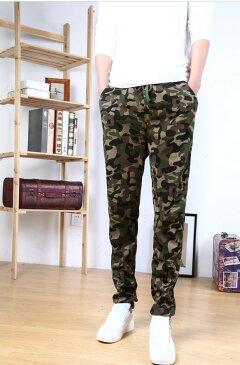 ジョガーパンツ メンズ カモフラ柄スウェットパンツ 迷彩柄スリムパンツ ボトムス パンツ メンズファッション
