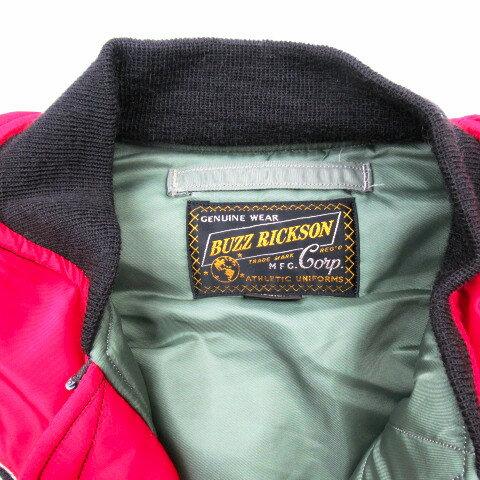 """【ラス1セール!! 】 BUZZ RICKSON'S バズリクソンズ RED MA-1 """"BUZZ RICKSON'S MFG.CORP NORTHROP PATCH"""" BR13905"""
