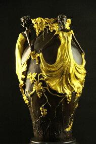 【送料無料】大型ブロンズ◇美人の花瓶◇JeanPatou作◇彩色