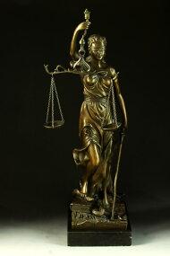 【送料無料】大型ブロンズ◇正義の女神◇Houdon◇39cm